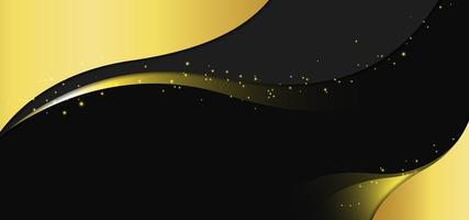 Golden Black Royal Swirl Banner vector
