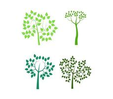 ensemble d'arbres verts sur blanc
