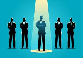 Businessman Silhouette in the Spotlight vector
