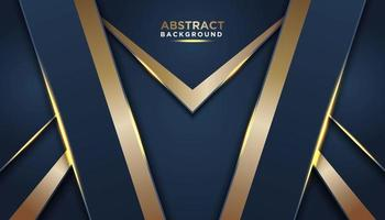 Dark Blue Background with Gold Trim  vector