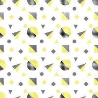 Black and Yellow Seamless Geometric Pattern