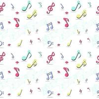 Seamless Pattern of Music Notes vector