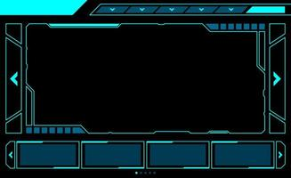 Large Rectangle Window HUD Interface vector