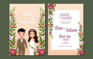 Floral Vine Save the Date Card