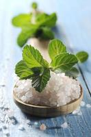 sea salt with mint photo