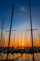 Yachts at sunset photo