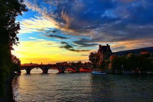 Sunset in Paris photo
