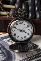 Time is money,vintage color. photo