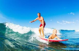 Father and Son Surfing photo