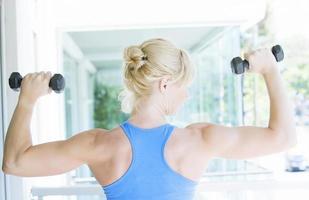 Fitness woman training photo