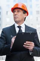 Confident foreman. photo