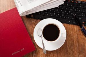 kopje koffie en de krant