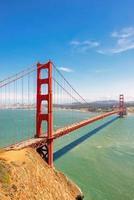 Golden Gate Bridge in San Francisco,  vertical.