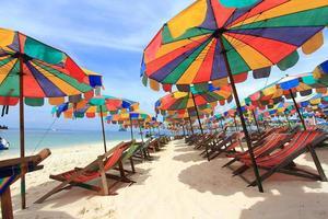 sombrilla de playa foto