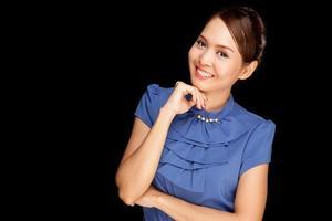 Portrait of beautiful young Asian woman photo