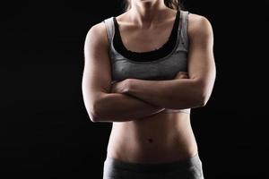 Woman's fitness photo