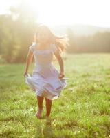 Little girl wearing communion dress
