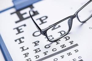 Examen de ojos foto