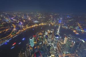 aerial view of shanghai lujiazui finance