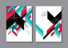 Colorful Geometric Chevron Cover Template