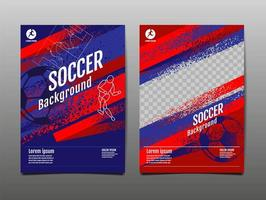 Sports Banner Set with Brush Strokes and Ball vector