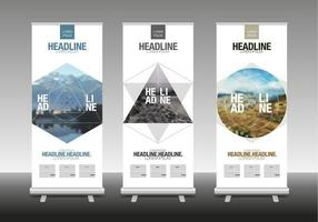 abstrakte geometrische Form Roll Up Banner Stand Design