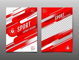 Red Geometric Sports Template Set