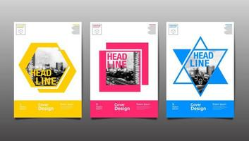 Layout Design Template with Colorful Shapes
