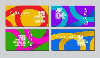 Colorful Abstract Swirl Banner Template Set