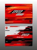 conjunto de plantillas deportivas rojas horizontales