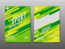 Fondo de plantilla de deportes de neón verde y amarillo