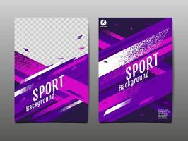 conjunto de plantillas deportivas brillantes púrpura y rosa