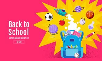 Bright Colorful Back to School Poster vector