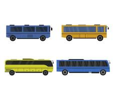 Set Of City Buses Icons  vector