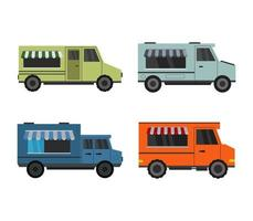 Set of Food Trucks Icons