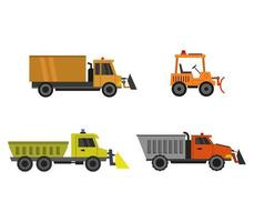Snowplow Icons Set