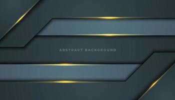 Gray Abstract Background with Wide Corner Layers