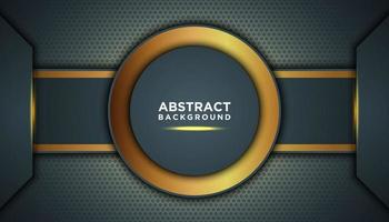 Dark Abstract Background with Circle Layers vector