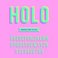 Holographic Overprint Pop Alphabet