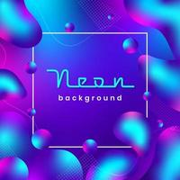 Neon Liquid Shapes Background