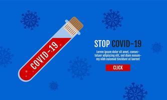cartel de diseño de la vacuna covid-19