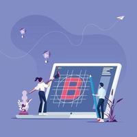 equipo de negocios crea marca vector