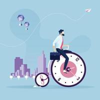 concepto de negocio de gestión del tiempo vector