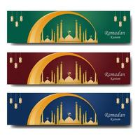 Set of Colorful Ramadan Web Banner Templates