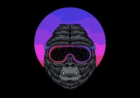 Gorilla in Space Goggles  vector
