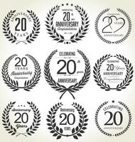 20th Anniversary Black Badges vector