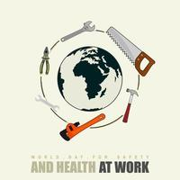 International Work Day Hand Tools Design vector