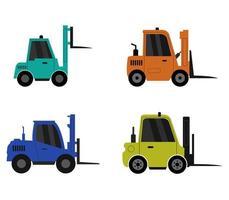ensemble d'icônes de chariot élévateur vecteur