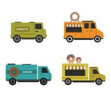 ensemble d'icônes de camion beignet
