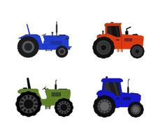 Set of Tractor Icons  vector
